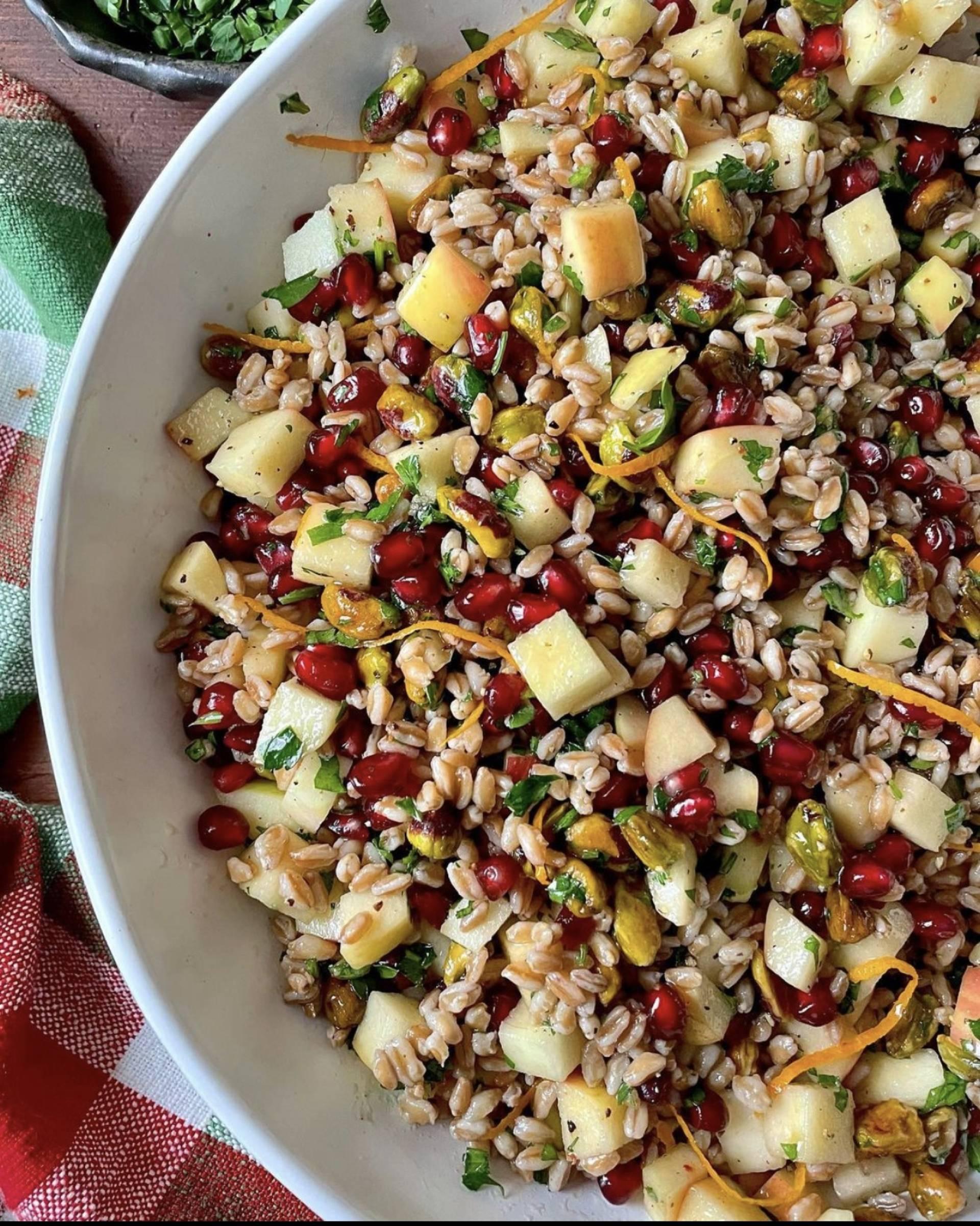 Farro Pomegranate  Salad