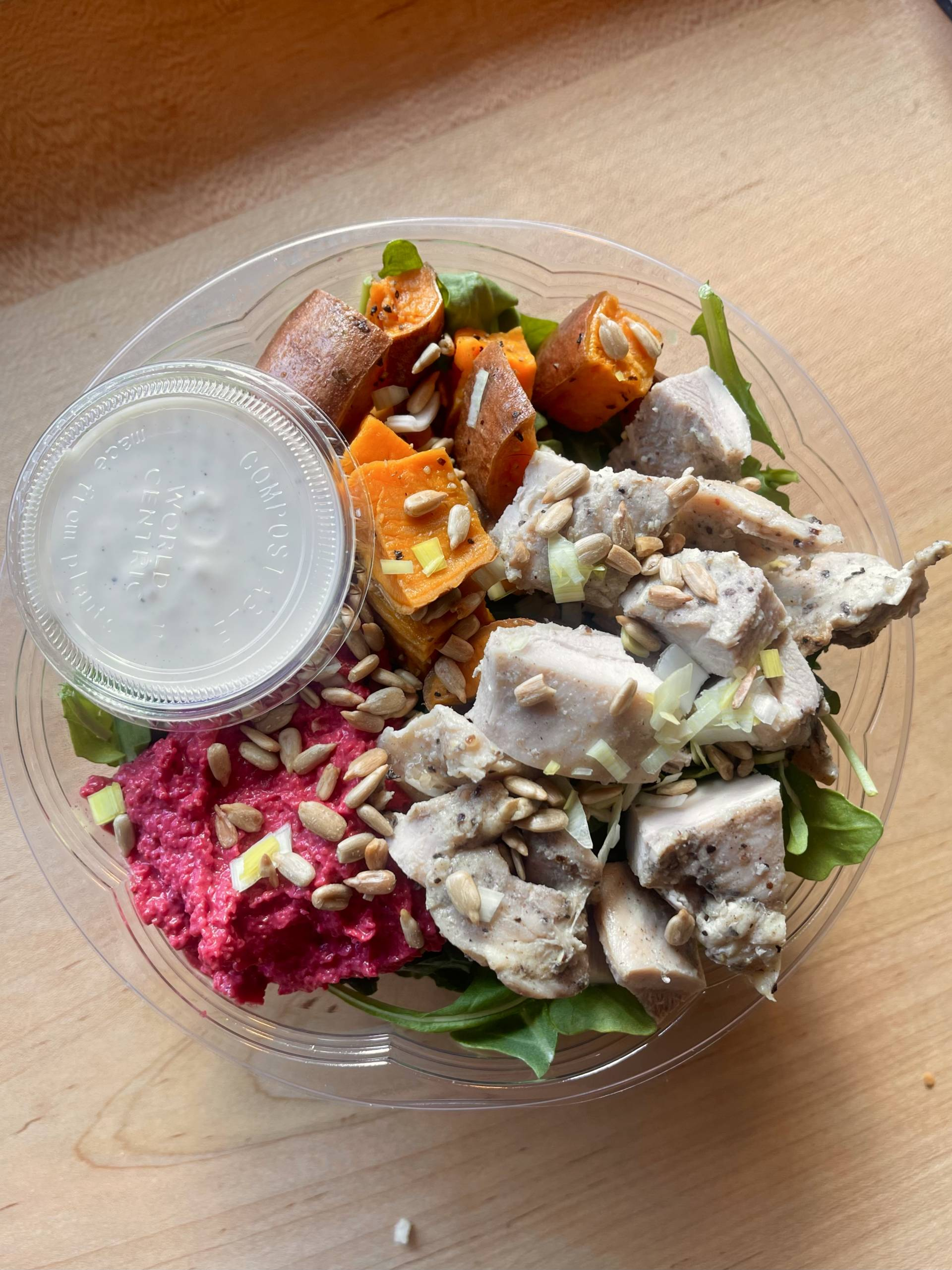 The Harvest Salad with Chicken