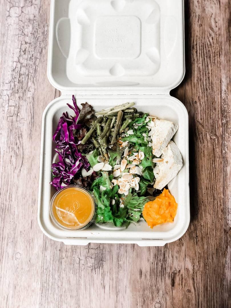 Togarashi Grain Bowl with organic chicken